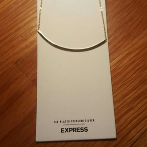 NWT EXPRESS Fine Gold Curved Bar Necklace